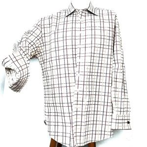 Ted Baker London Mens Checkered Casual Dre…
